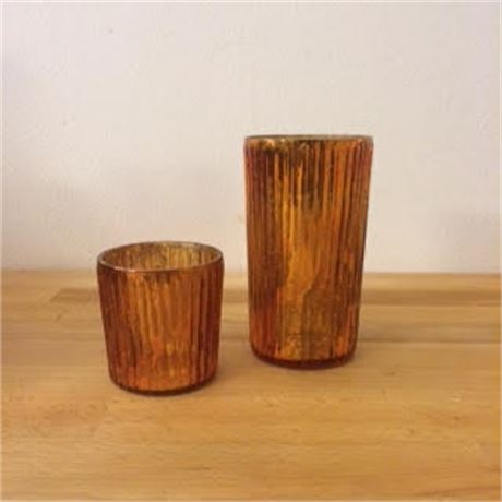 Copper Dipped Votive Holders - Great for Center Pieces!